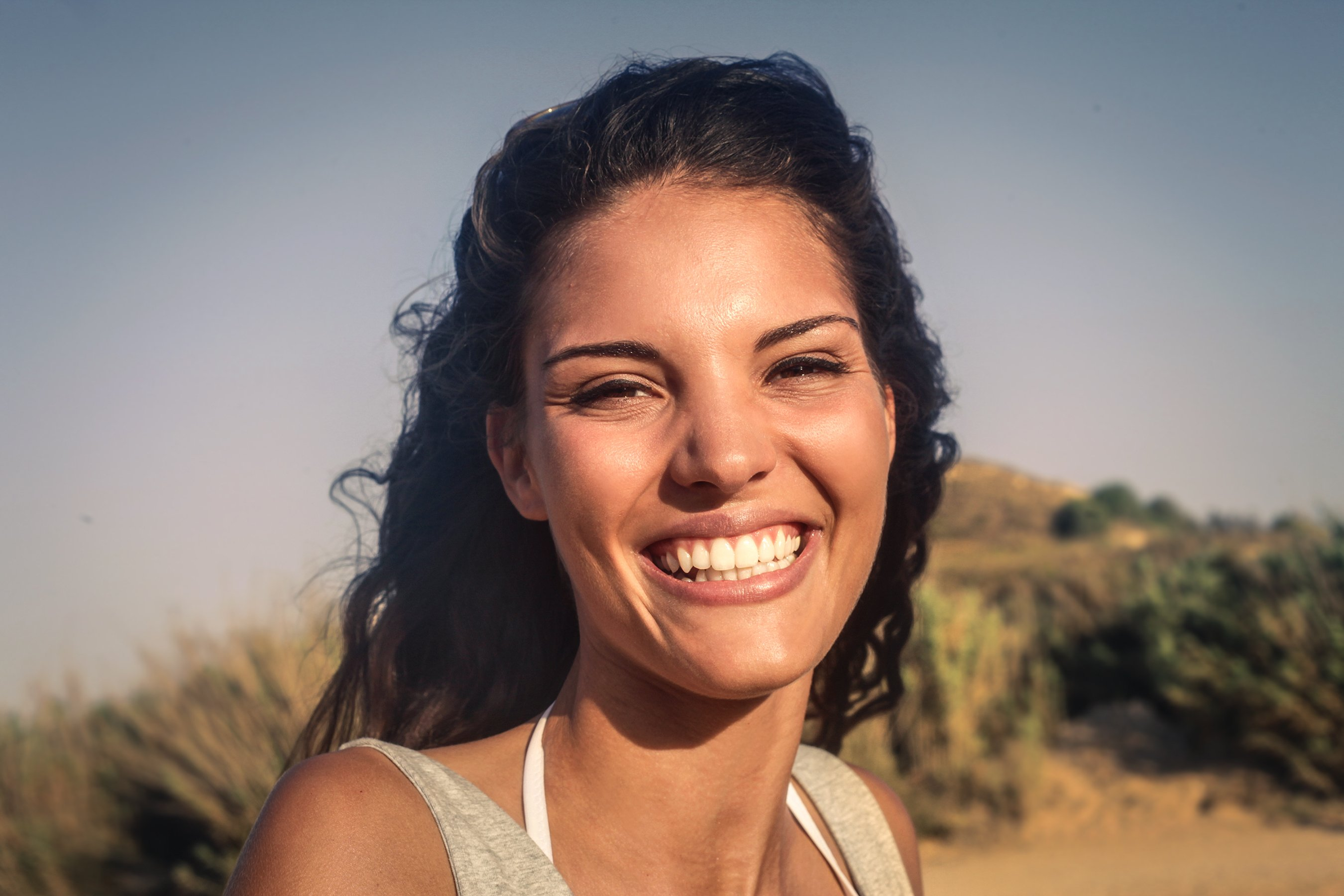 woman with healthy teeth